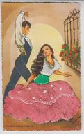 CE  047 /  CPSM COUPLE , COSTUME ROBE  BRODEE / ELSI GUMIER  /  DANZAS  ANDALUZAS  27 - Ricamate
