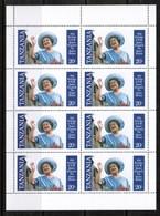 TANZANIA  Scott # 267-70** VF MINT NH Miniature Sheets Of 8 SS-374 - Tanzania (1964-...)