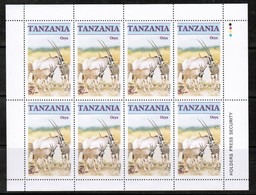 TANZANIA  Scott # 319-22** VF MINT NH Miniature Sheets Of 8 SS-375 - Tanzania (1964-...)