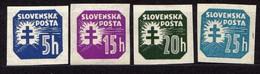 Slowakei / Slovakia, 1940'41, Mi 55; 60-62 Y **  [240319XXIV] - Unused Stamps