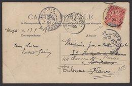 Carte Postale Boeuf Porteurs Afrt 10c 2 Type Groupe Des Colonies Oblt Type A2 Colonia MOPTI SENEGAMBIE ET NIGER 1905 - Lettres & Documents