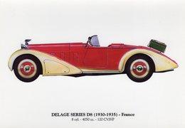 Delage Series D8   -  1930-1935  -  Carte Postale - Voitures De Tourisme