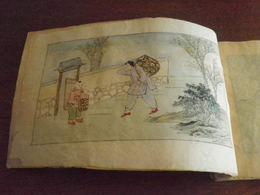 CHINE - CHINA - Ancien Recueil De 12 Aquarelles De Métiers Chinois Anciens - Années 1930... - Vieux Papiers