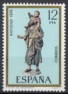 Spagna 1976 Sc. 2008 Christmas Natale Cristoforo Bambino Gesù Statua In Legno  Nuovo  Spain Espana - Cristianesimo