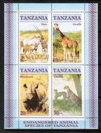 TANZANIA  Scott # 322a** VF MINT NH Souvenir Sheet SS-380 - Tanzania (1964-...)