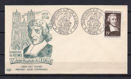 FRANCE - FR1282 - FDC - 1951 - De La Salle - Reims - 90 € - FDC