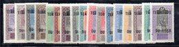 BIG/F - NIGER 1921 , Yvert Serie N. 1/17  *  Linguellata  (2380A) - Niger (1921-1944)