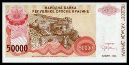 CROATIA - 50.000 Dinara 1993 {Knin} UNC P. R21 - Croacia