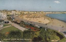 WEYMOUTH - Alexandra Gardens And Sands, Gel. 1963, Sondermarke, Transportspuren - Weymouth