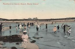 BARRY ISLAND - Paddlers On Sandy Beach, Gel. 192? - Wales
