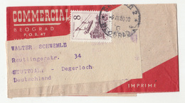 Commercial Company Newspaper Wraper Travelled 1960? To Stuttgart B190401 - 1945-1992 Sozialistische Föderative Republik Jugoslawien