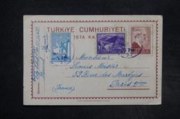 TURQUIE - Entier Postal + Complément De Izmir Pour La France En 1937  - L 27316 - Interi Postali