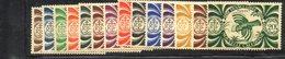 BIG/F - NUOVA CALEDONIA 1943 , Yvert Serie N. 230/243  *  Linguellata  (2380A) - Nuova Caledonia