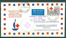 SERVICE SPECIAL AIDE POUR SKOPJE - FINNAIR - AERO O/Y - HAMBOURG - LOKSTEDT - ROTES KREUZ - Marcophilie (Lettres)