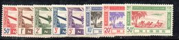 BIG/F - NIGER 1942 ,POSTA AEREA Yvert Serie N. 10/17  *  Linguellata  (2380A) - Niger (1921-1944)
