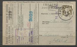 1932 - COB N° 337 - Oblitéré Sur Document - Griffe : SIGNEULX - Lettres & Documents