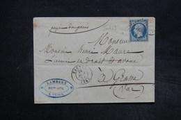 FRANCE - Lettre De  Cagnes Pour Grasse En 1854 , Affranchissement Napoléon , PC 579 - L 27321 - 1849-1876: Période Classique