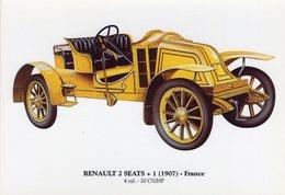 Renault 2 Seats + 1   -  1907   -  Carte Postale - Voitures De Tourisme