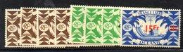 BIG/F - NIGER 1945 , Yvert Serie N. 172/179 *  Linguellata  (2380A) - Oceania (1892-1958)