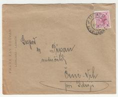 Franz Xav. Souvan Ljubljana Company Letter Cover Travelled 1899 Laibach To Schwarzenberg B. Idria (Črnivrh) B190401 - Slovenia