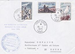 TIMBRE DE COLLECTION TAAF N° 14, 16 Et 31 Chionis , Eléphant De Mer, Damier Du Cap, OIseaux @ 1ER JOUR Sur ENVELOPPE - Lettres & Documents