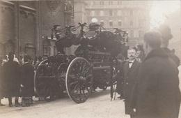 BERGRÄBNIS Seiner Majestät Kaiser Franz Josef I. , Prachtkutsche, Orig.Fotokarte (Prägestempel D.Photogr.) - Königshäuser