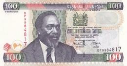 100 Schilling 2008, Banknote Aus KENYA, Gute Erhaltung (Kenyatta International Conference Centre Und Statue Kenyat ... - Kenia