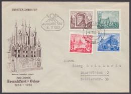 """358/61 """"700 Jahre Frankfurt/Oder"""", Gelaufen Nach Saarbrücken - FDC: Briefe"""