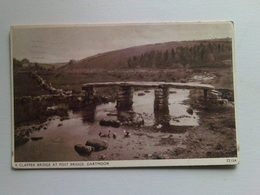 1946 Black And White  Postcard -  Clapper Bridge At Post Bridge,  Dartmoor - England