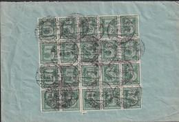 F2 /    Deutsches Reich Dienstpost Brief / Massenfrankatur  Frankfurt 1922 - Germany