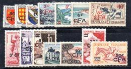 BIG/F - REUNION 1953 ,  Yvert Serie N. 307/319  *  Linguellata  (2380A) - Nuovi