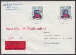 1841, MeF Mit 2 Werten, Wertbrief/eigenhändig, Mit Ankunft - DDR