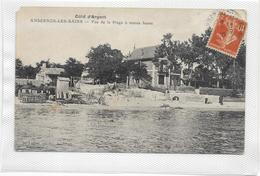 CPA ANDERNOS Rare éditeur Lafont  Vue  De La Plage à Marée Haute - Andernos-les-Bains