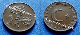 TURKEY  5 Kurus 1966 - PLANT - Turquia