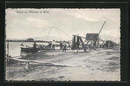 Cartolina Marina Di Pisa, Fischer Mit Booten Am Ufer - Pisa