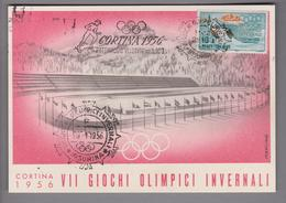 Motiv Olympia 1956 Cortina Ansichtskarte - Sports D'hiver