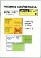 Arbeitskreis Markenheftchen - Rundschreiben 1 Aus 2017 - Deutsch (ab 1941)