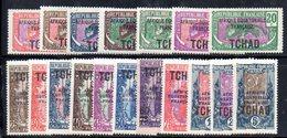 BIG/F - CIAD TCHAD 1922 ,  Yvert Serie N. 19/36  *  Linguellata  (2380A) - Nuovi