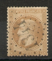 GC 1344 DOURGNE Tarn. FRAPPE CENTRALE. - 1863-1870 Napoleon III With Laurels