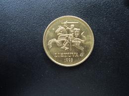 LITHUANIE : 50 CENTU  1998    KM 108    Non Circulé - Litauen