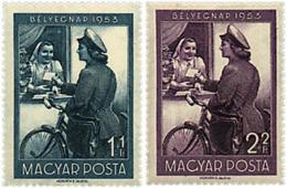 Ref. 63917 * NEW *  - HUNGARY . 1953. STAMP DAY. DIA DEL SELLO - Hungría
