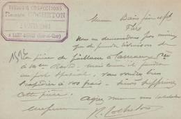 """Saint AIGNAN Sur Cher  - Cachet  Magasin  """" Romain COCHETON  """" Sur Entier Postal  -  Scan Recto-verso - Standard- Und TSC-AK (vor 1995)"""