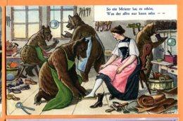 FR417, Ours, Baer, Bären, Cordonnier, Tablier, Illustrateur, K. Gehri, 5016, Non Circulée - Animaux Habillés