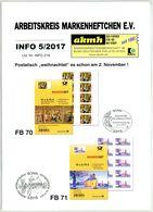 Arbeitskreis Markenheftchen - Rundschreiben 5 Aus 2017 - Deutsch (ab 1941)