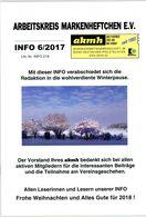 Arbeitskreis Markenheftchen - Rundschreiben 6 Aus 2017 - Deutsch (ab 1941)
