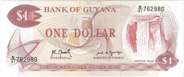 Guyana 1 Dollar 1992 Pk 21 G.1 Firmas Archibald Meredith Y Carl Greenidge UNC - Guyana