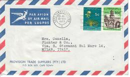 SUD AFRICA 1965 - 2 VALORI  SU BUSTA POSTA AEREA - Sud Africa (1961-...)