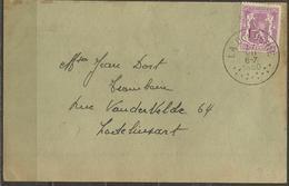 COB 422 Oblitéré Sur Carte - Oblitération LA DOCHERIE - Lettres & Documents