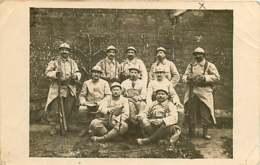 050419A - MILITARIA GUERRE 1914 1918 - Carte Photo SP 155 Tranchée De Champagne Militaire FROIDEVEAUX - Oorlog 1914-18