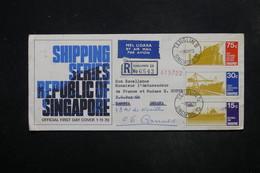 SINGAPOUR - Enveloppe En Recommandé De Singapour Pour La Zambie Et Redirigé Vers La France En 1970 - L 27340 - Singapour (1959-...)